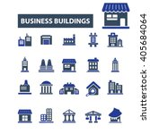 Business Buildings Icons