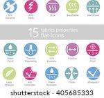 properties of fabrics and... | Shutterstock .eps vector #405685333