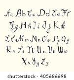 hand written alphabet  vector | Shutterstock .eps vector #405686698