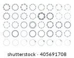 botanical wreaths clip art.... | Shutterstock .eps vector #405691708