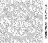 vector damask seamless pattern... | Shutterstock .eps vector #405694018