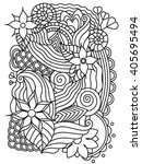 vector abstract hand drawn... | Shutterstock .eps vector #405695494