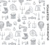 vintage objects vector graphic... | Shutterstock .eps vector #405699934