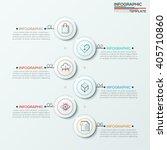 modern infographics process... | Shutterstock .eps vector #405710860