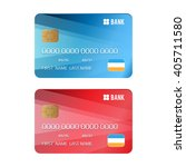 set of credit card. blue and... | Shutterstock . vector #405711580