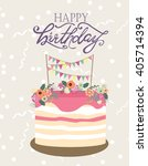 happy birthday card | Shutterstock .eps vector #405714394