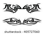 tribal tattoo art vector | Shutterstock .eps vector #405727060