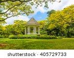 Wooden House Gazebo In The...
