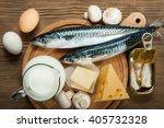 foods rich in natural vitamin d ... | Shutterstock . vector #405732328