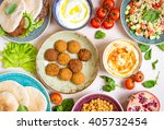 table served with middle... | Shutterstock . vector #405732454