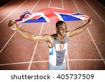 portrait of a male athlete with ... | Shutterstock . vector #405737509