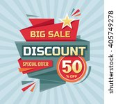 discount 50   off   advertising ... | Shutterstock .eps vector #405749278