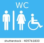 wc icon.toilet icon vector   Shutterstock .eps vector #405761833