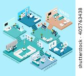 hospital icons isometric... | Shutterstock .eps vector #405763438
