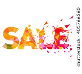 super sale shining banner on... | Shutterstock .eps vector #405766360