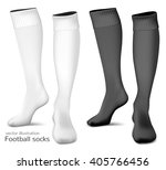 football socks. fully editable... | Shutterstock .eps vector #405766456