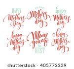 mothers day vector greeting... | Shutterstock .eps vector #405773329