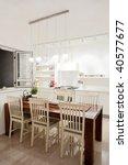 modern design kitchen with... | Shutterstock . vector #40577677