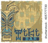 tiki bar sign. seamless... | Shutterstock .eps vector #405777730