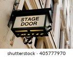 stage door sign | Shutterstock . vector #405777970