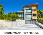 modern residential house with... | Shutterstock . vector #405780256