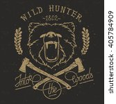 vintage poster or t shirt print. | Shutterstock . vector #405784909