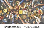 friends happiness enjoying... | Shutterstock . vector #405788866