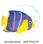 fish and bubble. vector...   Shutterstock .eps vector #405794179