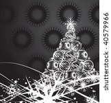 abstract christmas ball tree on ... | Shutterstock .eps vector #40579966