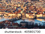 Arieal View Of Old Prague With...