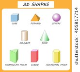 vector 3d shapes.educational... | Shutterstock .eps vector #405817714