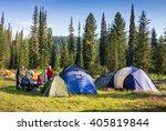 Family Enjoying Camping Holida...
