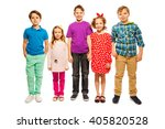 five happy age diverse friends... | Shutterstock . vector #405820528