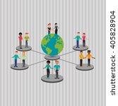 social media graphic design ... | Shutterstock .eps vector #405828904