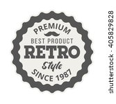 badge retro premium design... | Shutterstock .eps vector #405829828