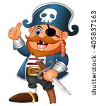 Cartoon Pirate Thumb Up