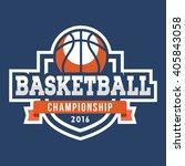 sport basketball logo. american ... | Shutterstock .eps vector #405843058