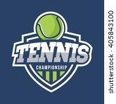 sport tennis logo. american... | Shutterstock .eps vector #405843100