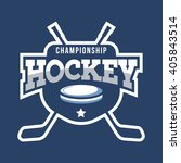 sport hockey logo. american... | Shutterstock .eps vector #405843514