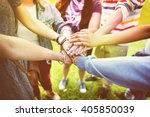 support help collaborate... | Shutterstock . vector #405850039