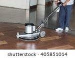 woman worker cleaning the floor ... | Shutterstock . vector #405851014