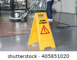 woman worker cleaning the floor ... | Shutterstock . vector #405851020