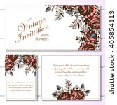 invitation with floral... | Shutterstock .eps vector #405854113