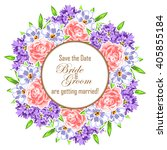 romantic invitation. wedding ... | Shutterstock . vector #405855184