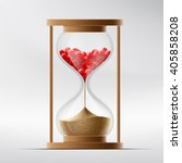 hourglass with human hearts.... | Shutterstock .eps vector #405858208