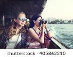 girls friendship hangout... | Shutterstock . vector #405862210