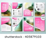 set of annual report brochures... | Shutterstock .eps vector #405879103