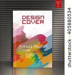 annual report cover. cover... | Shutterstock .eps vector #405880534