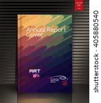 annual report cover design... | Shutterstock .eps vector #405880540