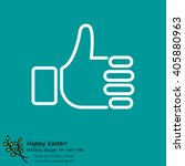 web line icon. thumbs up  like | Shutterstock .eps vector #405880963